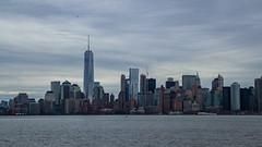 Manhattan viewed from Ellis Island (rafaelpuerto) Tags: nyc panorama ny newyork manhattan worldtradecenter esb hudsonriver empirestatebuilding wtc 18200 ellisisland rafaelpuerto