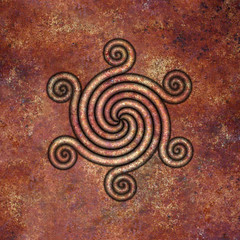spiral (chrisinplymouth) Tags: spirality art pattern design spiral image whorl coil abstract cw69x artwork square digitalart symmetry cw69sym curl symbol rust convergingspiral converging geometric geometry cw69spiral emd