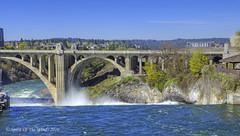 Before The Falls (jimgspokane) Tags: bridges waterfalls rivers spokaneriver monroestreetbridge spokanefalls nikonflickraward spokanewashingtonstate