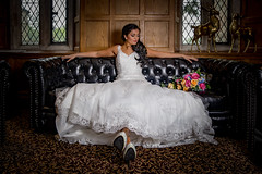 White on black (Eyecandy Photography UK) Tags: wedding white leather plymouth sofa devon weddingdress boringdonhall removedfromstrobistpool incompletestrobistinfo seerule2