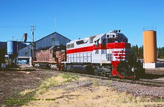 MRY 36-38, McCloud, CA. 8-02-1999 (jackdk) Tags: train railway roster emd railraod mry sd38 emdsd38 mccloudriverrailway