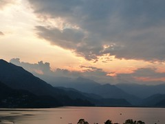 Pre-monsoon Turbulent sunset -  Lake Phewa, Pokhara (PsJeremy) Tags: nepal lake water dusk pokhara phewa himalayan