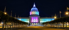 San Francisco City Hall Pride Lights - 6/18/2016 (Mickey Lo Photography) Tags: sanfrancisco june rainbow cityhall 2016 sanfranciscocityhall sanfranciscopride pridelights sonyflickraward