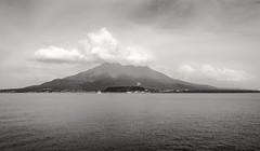 Sakurajima Volcano (debbykwong) Tags: leica nature japan volcano landscapes kagoshima bnw sakurajima blackandwhitephotography leicaq  leicaqtyp116