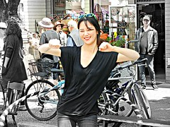 The Dancer (knightbefore_99) Tags: 2016 party car free day italian italy vancouver thedrive commercialdrive hula hoop girl asian pretty dancer fun june