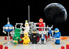 Another Group Selfie Shot (billyburg) Tags: lego space lunar exploration geological outpost little green man men from mars martian fear group selfie upside down