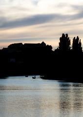 Neckar mit Schlo (VanillaChief) Tags: neckar tuebingen castle boat