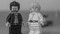 Lucas and Hamill '76 (Just Bricks) Tags: george lucas mark hamill luke skywalker star wars behind scenes lego 1976