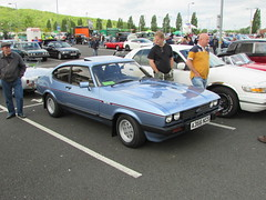 Ford Capri 2.8 Injection A366NGS (Andrew 2.8i) Tags: cardiff classic car club show ford capri 28 injection v6 cologne sports sportscar coupe hatch hatchback classics cars blue all types transport worldcars