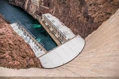 Hoover Dam - Looking Straight Down (Serendigity) Tags: dam usa hooverdam desert water nevada engineering coloradoriver arizona unitedstates