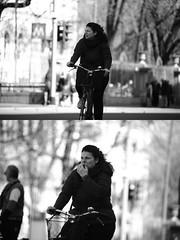 [La Mia Citt][Pedala] (Urca) Tags: milano italia 2016 bicicletta pedalare ciclista nikondigitale mir bike bicycle biancoenero blackandwhite bn bw ritrattostradale portrait dittico 872142