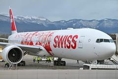 Boeing 777-3DE(ER). HB-JNA. Swiss (People's Plane Livery). (Themarcogoon49) Tags: swiss boeing b77w hbjna b777 aircraft gva airport cointrin lsgg switzerland avgeek planespotting
