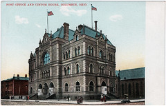 Post Office and Custom House, Columbus, Ohio (Date Unknown) (Sent from the Past) Tags: columbus columbusohio postcard postcards postoffice postoffices customhouse buildings citybuildings unused unknowndate dateunknown dividedback wgmacfarlane