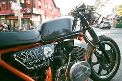 Smoke Monster (Georgie_grrl) Tags: modsandrockers2016 motorcycles scooters chrome social community friends bikes bikers riders scooterists pentaxk1000 rikenon12828mm ossingtonavenue smokemonster vroomvroom