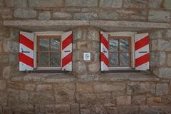 Cabane de l'A Neuve, 2735m (chogori20) Tags: cabane window volet refuge alps mountain