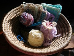 More and less (andreabailey50) Tags: more less granny squares yarn basket