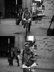 [La Mia Citt][Pedala] ccon il BikeMi (Urca) Tags: 89116 milano italia 2016 bicicletta pedalare ciclicsta ritrattostradale portrait bike bicyclenikondigitale mir biancoenero bn bw blackandwhite bikemi bikesharing