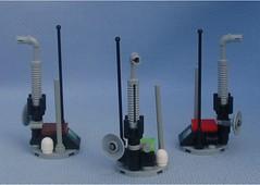 Ostrich Stations (Mantis.King) Tags: lego legogaming kreo brickblend moc mechaton mobileframezero mf0 mfz microscale scifi station wargames futuristic terrain