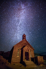 Methodist Church and Stars (stephencurtin) Tags: california park sky church night stars town state ghost historic bodie methodist thechallengefactory