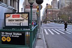 5th Avenue Uptown, from 23rd Street (AntyDiluvian) Tags: nyc newyorkcity ny newyork subway manhattan broadway 5thavenue uptown crosswalk 23rdstreet flatirondistrict