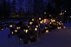 Kaleva cemetery (MoshersMoll) Tags: winter snow cemetery graveyard finland candles graves memory candlelight tradition finnish kaleva tampere