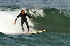 Surfin' USA - Santa Monica (Airwolfhound) Tags: sea usa beach honeymoon santamonica surfer wave surfing surfinusa