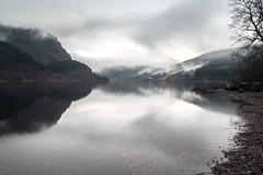 Loch Lubnaig (martha-jane) Tags: longexposure autumn winter lake mountains reflection water clouds scotland stirling loch callander slowshutterspeed lubnaig