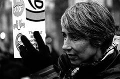 London Street: Julie (christait) Tags: street uk woman london thames river julie minolta britain 90mm f4 2012 periscope flotilla ilforddelta3200 rokkor leicam3 diamondjubilee ilfotechc