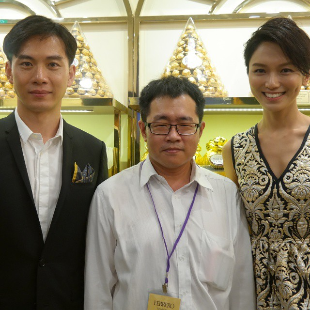 With MediaCorp artists Qi Yuwu and Joanne Peh at the opening of Pasticceria Ferrero at Wisma Atria. #anitaliancreation