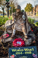 The Lonely Soldier (juliereynoldsphotography) Tags: soldier village sunday wreath remembrance woolton juliereynolds juliereynoldsphotography