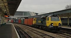 70019 at Newport. 4/12/14 (Nick Wilcock) Tags: wales newport southampton railways freightliner intermodal wentloog 70019 class70 4o70