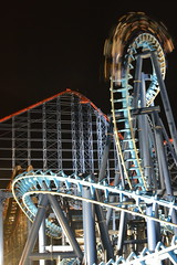 Illuminated Infusion Inverting (CoasterMadMatt) Tags: november autumn england motion blur max english beach up car night speed train dark season fun lights one amusement big slow carriage ride time fairground steel illumination fair illuminated infusion nighttime motionblur shutter roller theme amusementpark rides rollercoaster arrow pepsi lit slc inverted bigone coaster funfair blackpool atnight themepark pleasure attraction attractions coasters rollercoasters slowshutterspeed 2014 litup in hypercoaster inthedark pleasurebeach blackpoolpleasurebeach pepsimax thebigone nighttimephotography pepsimaxbigone seasode pleasurebeachblackpool invertedrollercoaster steelrollercoaster november2014 pleasurebeachatnight arrowhypercoaster