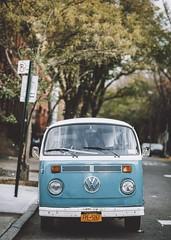 Blue Westfalia (Guillermo Murcia) Tags: street city urban usa newyork classic vw america vintage volkswagen wagon van exploration camper germancar weekender westfalia wagen guillermomurcia