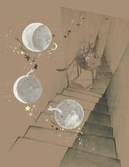 DOOR & MOON (sam_p_coco) Tags: door moon elephant rabbit 문 달 몽환 박새미