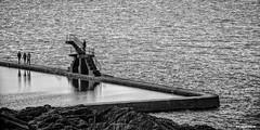 Plongeoir (DESAMY) Tags: bw france beach automne landscape coast photo nikon noiretblanc bretagne fullframe paysage intramuros stmalo d610 24x36 cotebretonne