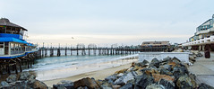 Redondo Pier (pano)-2-5_stitch (Swallia23) Tags: ocean sunset seagulls beach birds surf pacific wind boardwalk sales redondobeach eltorito redondopier oldtonys redondolanding