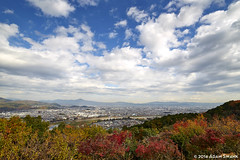 Overlooking Kyoto (autoidiodyssey) Tags: autumn color fall japan kyoto foliage arashiyama koyo