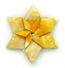 Fujimoto hexagone Rosette  15 front (Pliages et vagabondages) Tags: origami rosette décoration déco fujimoto hexagone