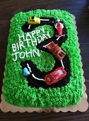 Cars cake by Leann, Triad Area, NC, www.birthdaycakes4free.com