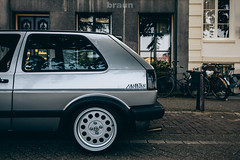 Volkswagen Golf MkII - Alfa Romeo (Ronal) (Rick Bruinsma) Tags: city classic golf volkswagen perfect shoot static works alfa braun stance oem ronal nothelle perfectstance stanced