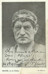 Firmin Gmier in Oedipe (Truus, Bob & Jan too!) Tags: 1920s cinema france film vintage movie french star 1930s theater silent theatre stage postcard screen movies actor 1910s director manager franais firmin 1900s acteur filmstar attore schauspieler firmingmier gemier gmier