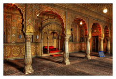 Bikaner IND - Junagarh Fort Private Audience Hall in Anoop Mahal 02