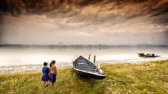 Second self (Santo(Thanks for 2 Million++views!!)) Tags: winter girls cloud india green nature water rain fog kids river landscape bay boat natural cloudy newyear kolkata ganga ganges originalphotography
