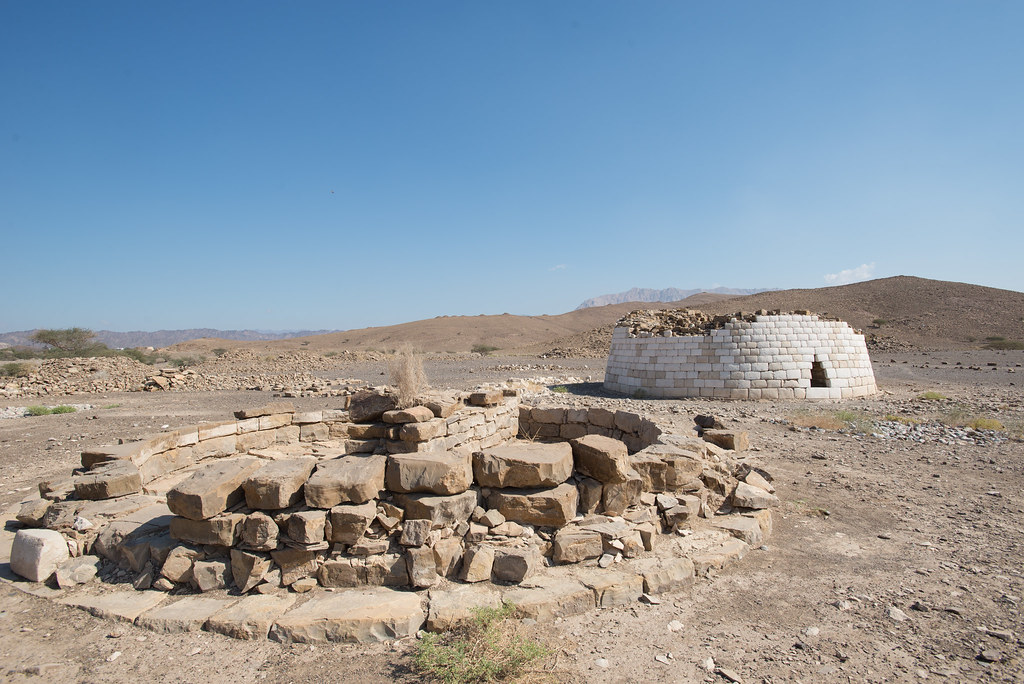 Remains of the ancient tombs