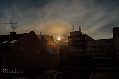 When the sun goes down somewhere, they inevitably rises elsewhere (L.Q.Photography) Tags: blue sky sun sunrise canon down when goes they somewhere sonne hemel rises elsewhere  geld hemmel     sonneaufgang  inevitably  70d     lqphotography whenthesungoesdownsomewhere