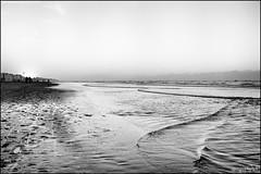 Staring at the sea... (gutSa!) Tags: sunset sea bw white black water coast belgium belgie pentax tmax zee westvlaanderen 400 hd flanders lx pyrocat