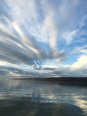 IMG_5933 (Marshen) Tags: sky reflection evening rowing cayugalake