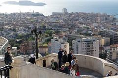 Marseille (Lionelcolomb) Tags: city sea france canon landscape island la marseille good mother provence bonne humans tourisme mère