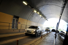 New tunnel (Roving I) Tags: travel cars vietnam vehicles infrastructure highways walkways tunnels railings exits entrances langco