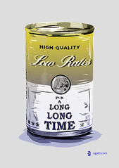 low rates (http://www.agatti.com) Tags: art andy tin long low central bank can pop warhol period rates bce ecb banca centrale term facsimile investments investimenti